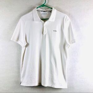 Calvin Klein White Polo Shirt Size Medium